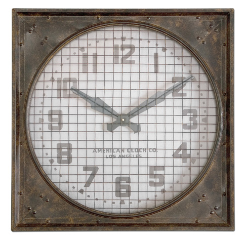 Uttermost Company - Warehouse Wall Clock w/Grill - 06083