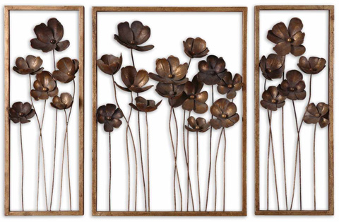 Uttermost Company - Metal Tulips Wall Art Set of 3 - 12785