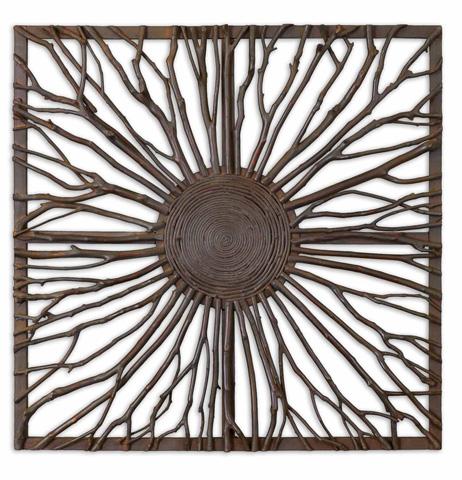 Uttermost Company - Josiah Square Wooden Wall Art - 13777