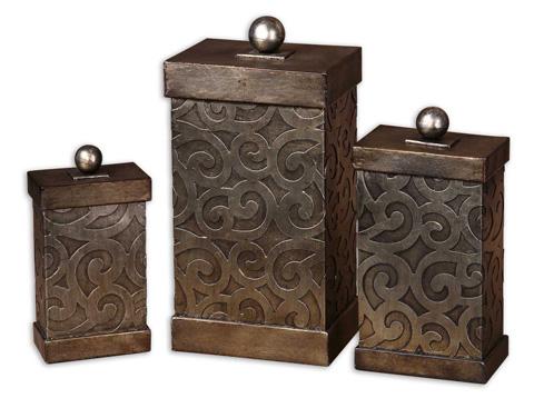 Uttermost Company - Nera Metal Decorative Boxes - 19418