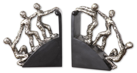 Uttermost Company - Helping Hand Nickel Bookends - 20494