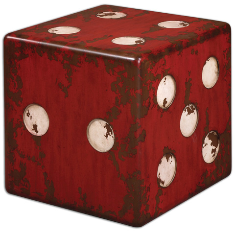 Uttermost Company - Dice Red Accent Table - 24168