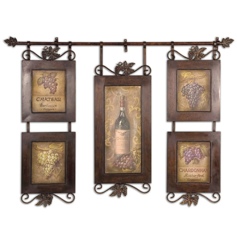 Uttermost Company - Hanging Wine Framed Art - 50791