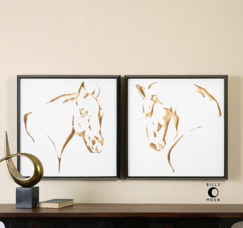 Uttermost Company - Golden Horses Art - 34302
