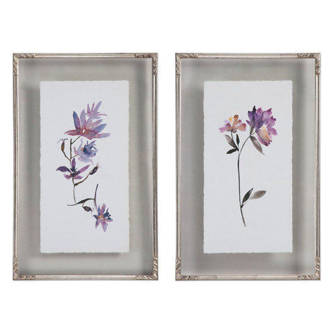 Uttermost Company - Floral Watercolors Art-Set of Two - 41552