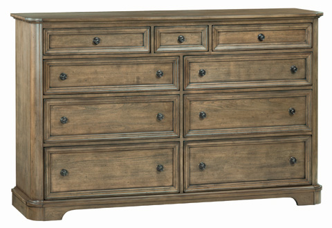 Whittier Wood Furniture - Stonewood Master Dresser - 1190RGB