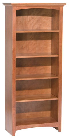 Whittier Wood Furniture - McKenzie Alder Bookcase - 1523AEGAC