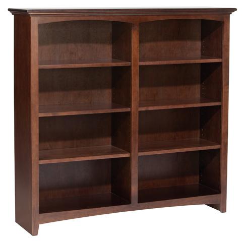 Whittier Wood Furniture - McKenzie Alder Bookcase - 1552AECAF