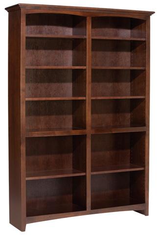 Whittier Wood Furniture - McKenzie Alder Bookcase - 1554AECAF