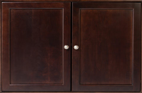 Whittier Wood Furniture - McKenzie Bookcase Cabinet - 2001AECAF