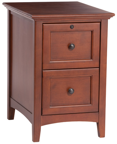 Whittier Wood Furniture - McKenzie File Cabinet - 2402GAC