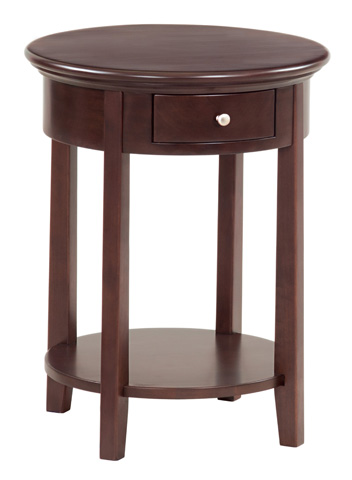 Whittier Wood Furniture - McKenzie Round Side Table - 3495CAF