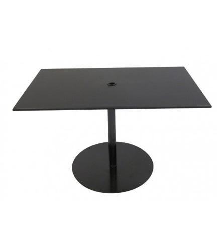 Woodard Company - Solid Iron Rectangular Umbrella Table with Base - 13L3TU48