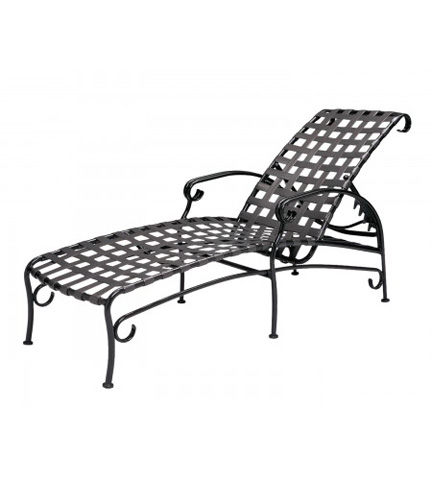 Woodard Company - Ramsgate Strap Adjustable Chaise Lounge - 16M470
