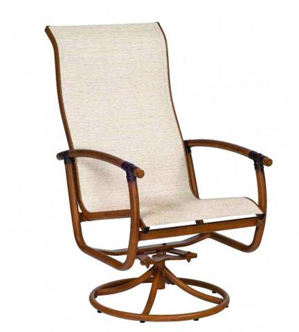 Woodard Company - Glade Isle Sling High Back Swivel Rocker Arm Chair - 1Q0466