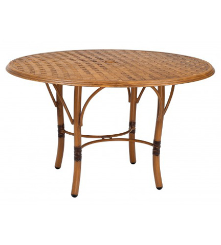 Woodard Company - Glade Isle Round Dining Table with Thatch Top - 1T48BT