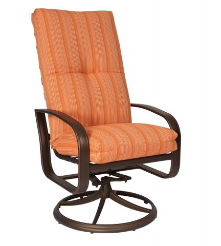 Woodard Company - Cayman Isle Cushion High-Back Swivel Rocker - 2E0488