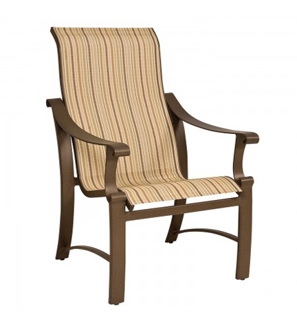 Woodard Company - Bungalow Sling High-Back Dining Arm Chair - 830425