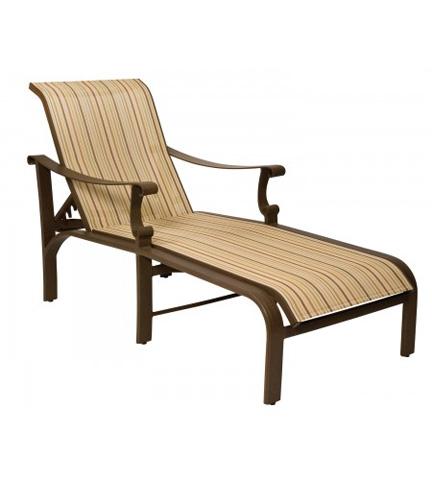 Woodard Company - Bungalow Sling Adjustable Chaise Lounge - 830470