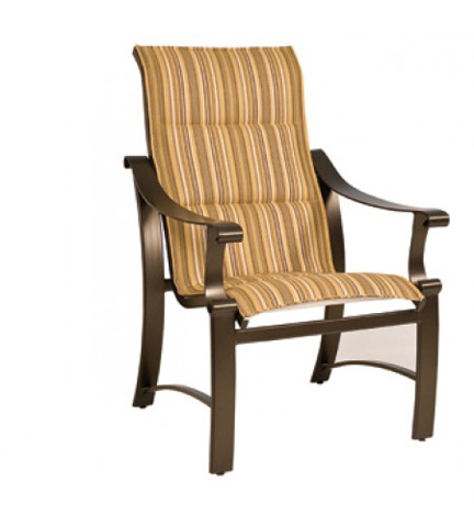 Woodard Company - Bungalow Padded Sling High-Back Dining Arm Chair - 830525