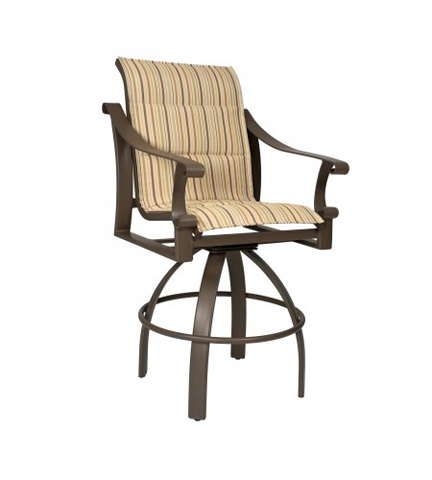 Woodard Company - Bungalow Padded Sling Swivel Barstool - 830568