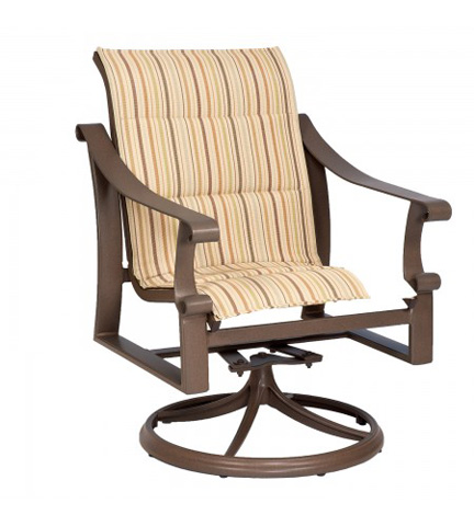Woodard Company - Bungalow Padded Sling Swivel Rocker - 830572