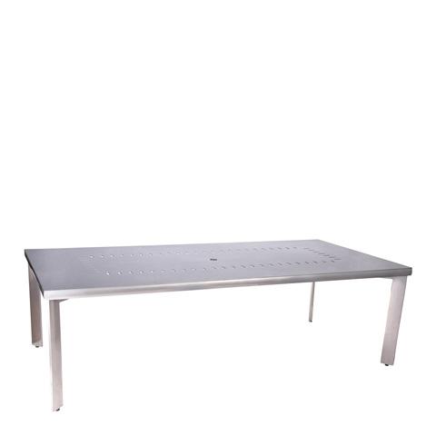 Woodard Company - Metropolis Rectangular Umbrella Dining Table - 3290BT