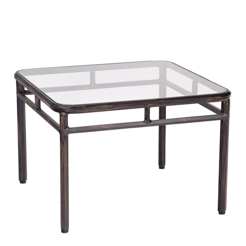 Woodard Company - Nob Hill End Table with Glass Top - 3U24BT