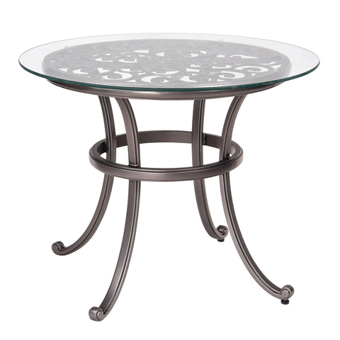 Woodard Company - New Orleans Bistro Table with Glass Top - 3W0437