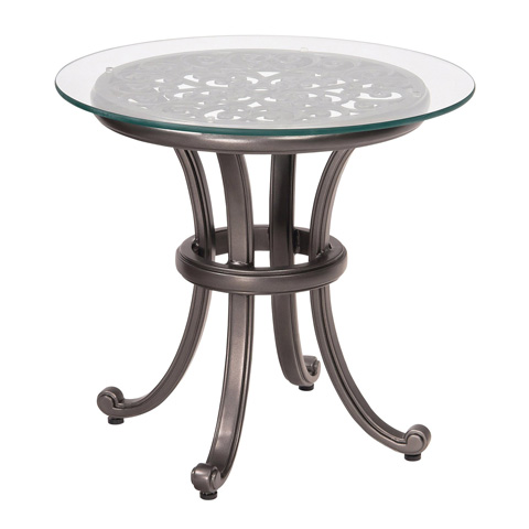 Woodard Company - New Orleans End Table with Glass Top - 3W0439