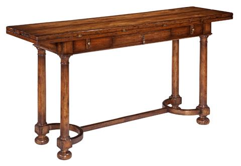 Woodbridge Furniture Company - Tudor Flip Top Console Table - 3062-26