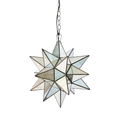Worlds Away - Extra Large Antqiue Mirror Star Chandelier - AMS112