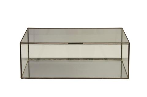 Worlds Away - Rectangular Clear Glass Box - BOX CLR