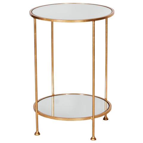 Worlds Away - Two Tier Gold Leafed Side Table - CHICO G