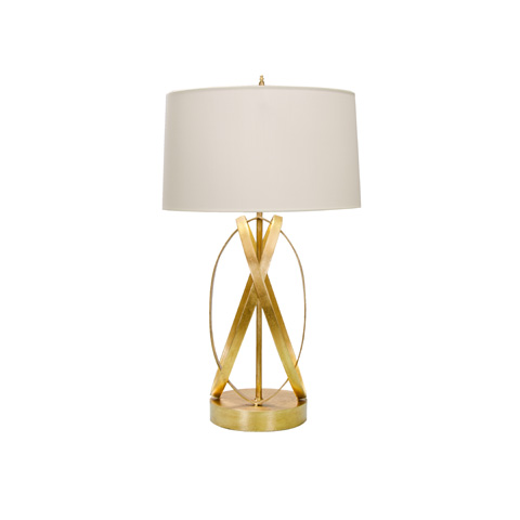 Worlds Away - Gold Leafed Ovals Lamp - CLEO G
