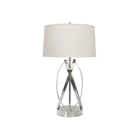 Worlds Away - Nickel Plated Ovals Lamp - CLEO N