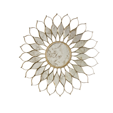 Worlds Away - Silver Leaf Iron Mirror - DAISY S