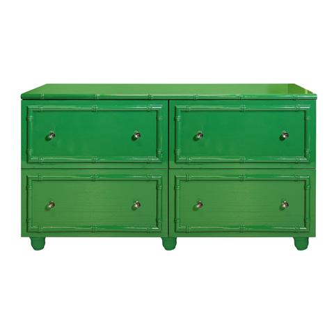 Worlds Away - Green Lacquer Four Drawer Dresser - EMMA GR