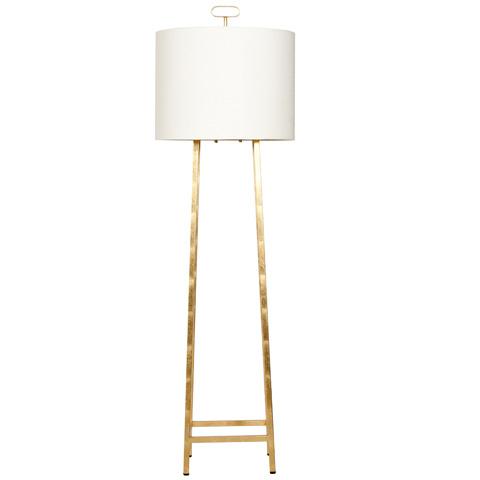 Worlds Away - Gold Leaf Four Leg Floor Lamp - FERRIS G