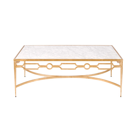 Worlds Away - Gold Leaf Coffee Table - GRACE G