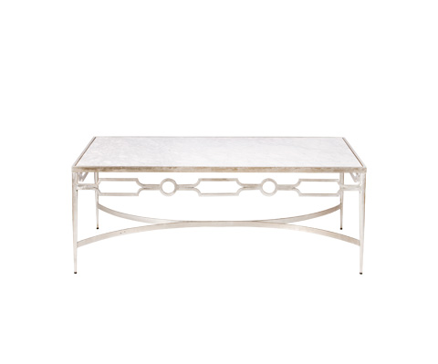 Worlds Away - Champagne Silver Leaf Coffee Table - GRACE S