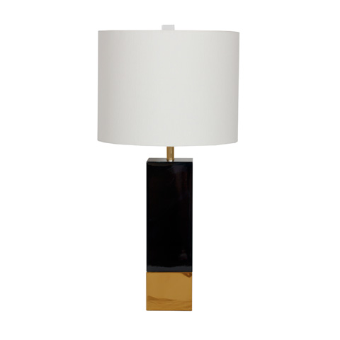 Worlds Away - Black Lacquer Table Lamp - HARPER BL