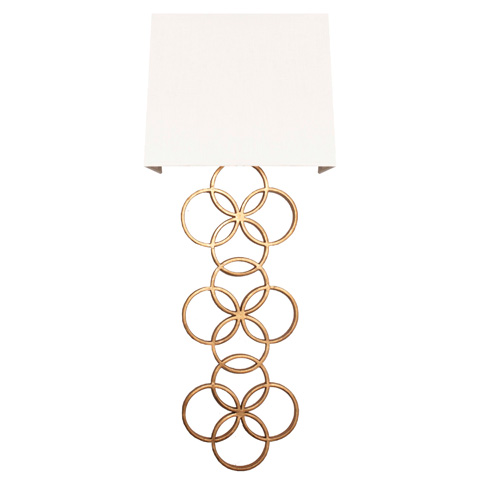 Worlds Away - Large Gold Leaf Circles Sconce - HARRIET G