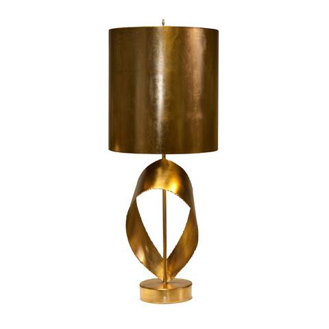 Worlds Away - Gold Leaf Brutalist Ribbon Lamp - JENNINGS G