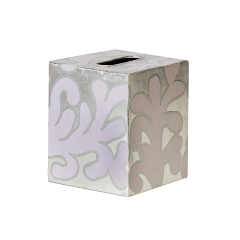 Worlds Away - Lavendar and Silver Kleenex Box - KBJANELS