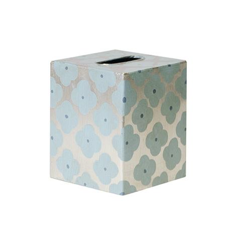 Worlds Away - Blue and Silver Kleenex Box - KBMOROCCO BS