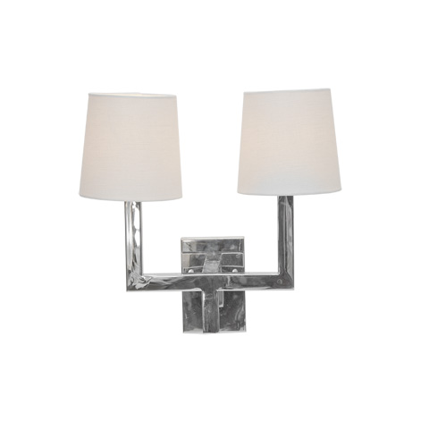Worlds Away - Nickel Plated Two Arm Sconce - KENNEDY N
