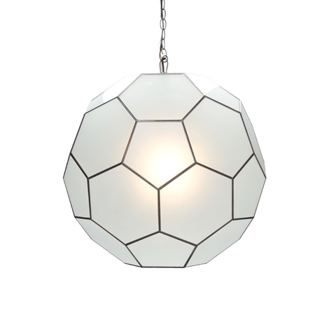 Worlds Away - Small Frosted Glass Knox Pendant - KNOX FRS