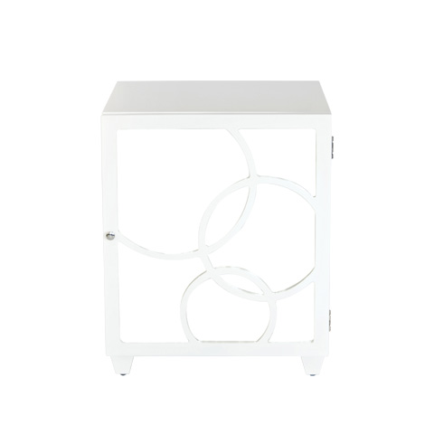 Worlds Away - Right Opening White Lacquer Nightstand - LEAH NWHR