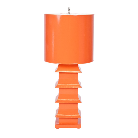Worlds Away - Orange Pagoda Lamp - LMPHL-OR